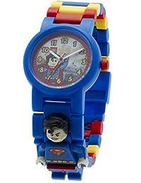 LEGO DC Comics Super Heroes Superman Kids Minifigure Link Buildable Watch | blue/red | plastic | 28mm case diameter| analog quartz | boy girl | official