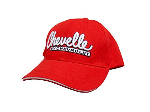 Hot Shirts Chevelle by Chevrolet Hat: Red - Chevy Malibu SS 396 454 Yenko Motion COPO ()