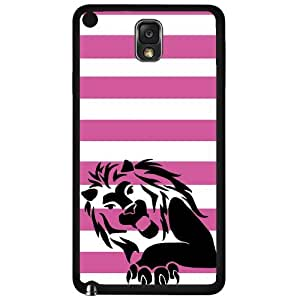 Lion with Pink Stripes Hard Snap on Case (Note 3 III)