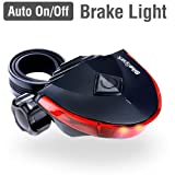 BikeSpark Auto-Sensing Rear Light G1 - Super Bright LED Bike Tail Light with 220 Degree Visibility - Auto On/Off & Deceleration Flash by Motion Sensing - AAA Battery - Water Resistant IPX3