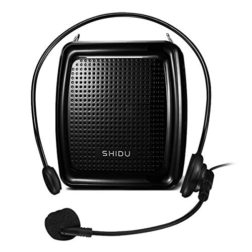 SHIDU Voice Amplifier Portable Microphone Headset with Speaker 10W 1800mAh Rechargeable Lecture Microphone Waistband Original Voice Amplifier for Teachers Supports Recording and FM Radio