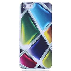 YXF Illusory Glass Block Print Back Case for iPhone 5/5S