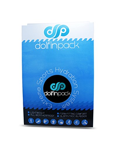 DolfinPack Lightweight, Form-fitting, Waterproof, Extreme Sports Hydration Pack, Black