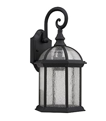 Chloe Lighting CH1611-BLK-OSD1 16-Inch Tall Transitional 1-Light Black Outdoor Wall Sconce