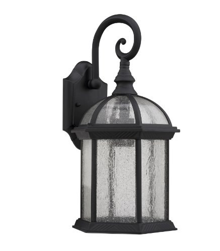 Chloe Lighting CH1611-BLK-OSD1 Transitional 1-Light Outdoor Wall Sconce, 16 x 8 x 8