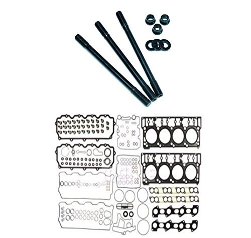 ARP Head Stud Kit & OEM Style 18mm Cylinder Head Gasket Set For 2003-2006 Ford Powerstroke Diesel 6.0L F250 F350 F450 F550 - Bundle -