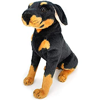 Amazon Com 5 Inch Doberman Pinscher Plush Dog With Doggie Bag Toys