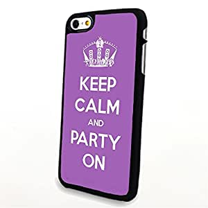 Generic Phone Accessories Matte Hard Plastic Phone Cases Quote Keep Calm and Party On fit for Iphone 6