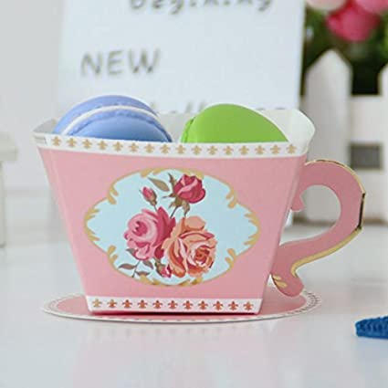 sodial 10pcs candy boxes tea party favors wedding gifts for guests bridal shower birthday party candy