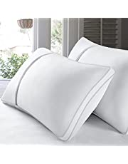 BedStory 2 Pack Sleeping Pillows, Hotel Pillow Down Alternative Dust Mite Resistant & Hypoallergenic, Bedding Pillow for Neck/Shoulder Pain/Allergy Sufferers and Back/Stomach/Side Sleepers 2Pack