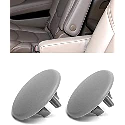 Armrest Cap Cover for 07-19 Chevy Tahoe, Suburban, Yukon, Cadillac Escalade Seat Parts - Replaces OEM GM 15279689 Left or Right Rear Bucket Seats Arm Rest Handle Trim Bolt Vehicle Accessories (Gray)
