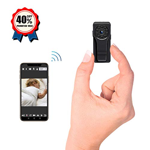 Mini Hidden Camera WiFi Spy Camera 1080P HD Security Monitoring Nanny Cam Night Vision Motion Detection 170 Degree Wide View Angle for Indoor & Outdoor