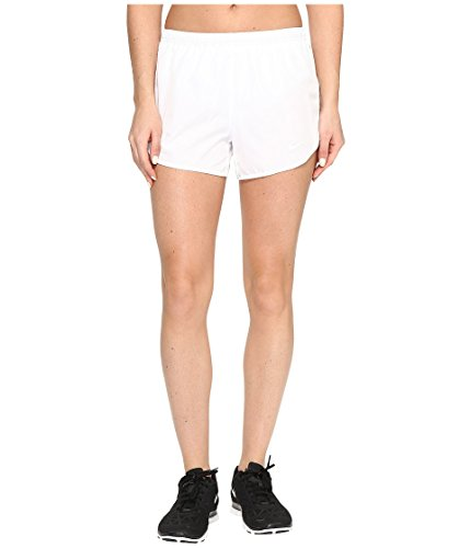 Nike Womens Vochtafvoerende Colorblock Shorts Wit