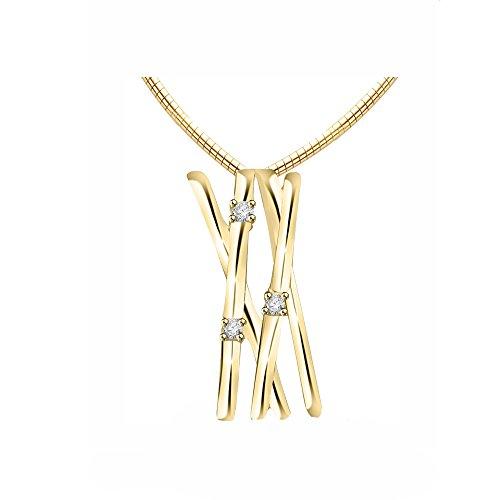 Or Jaune 18 ct Pendentifs Diamant , 0.04 Ct Diamant, GH-SI, 1.68 grammes.