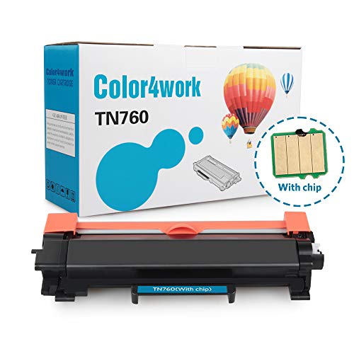 Color4work Compatible Brother High Yield  Toner Cartridge TN760 TN-760 Black, 1-Pack, use with DR730 Drum Unit for HL-L2350DW DCP-L2550DW MFC-L2710DW MFC-L2750DW HL-L2395DW HL-L2390DW HL-L2370DW