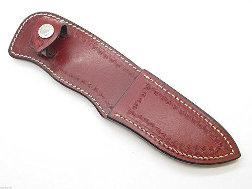 Buck 923 929 Custom Shop Red Leather Medium Skinner Fixed Kn