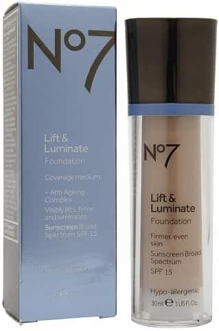 Boots No7 Lift & Luminate SPF15 Foundation, Cool Beige, 1oz