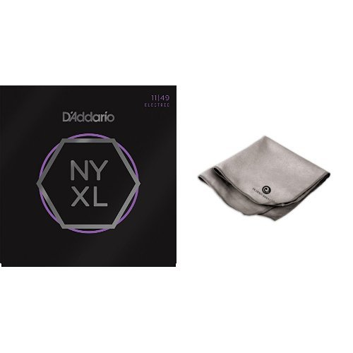 D'Addario NYXL1149 Nickel Wound Electric Guitar Strings, Medium 3 Pack with Microfiber Polish Cloth Ghs Guitar Polish