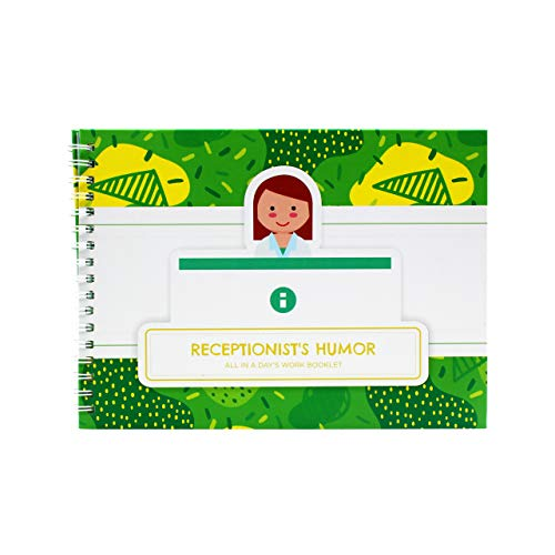 Receptionist Gifts - Personalizable Humor Booklet with Matching Card To Say Thank You to Your Favorite Receptionist or Front Desk Assistant - Easy-to-Fill and Thoughtful Gift Ideas - Funny Office Gift