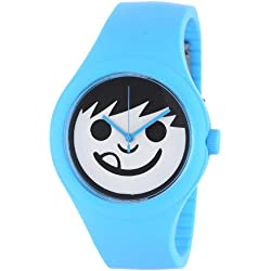 Neff Men's NF0206-cyan Interchanable Face Adjustable Silicon Band Watch
