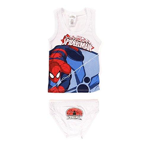 camiseta de mangas Spiderman blanco traje sin Conjunto de OqSx78v