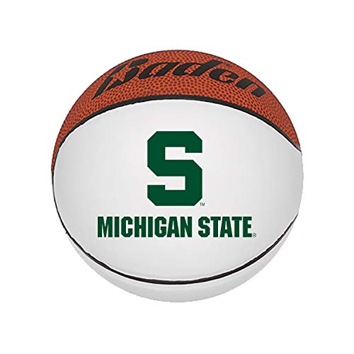 (Michigan State Spartans NCAA Mini Autograph Signature White Panel Basketball (Mini 5