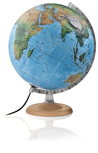 Atmosphere R4 silver: Relief-Leuchtglobus 30 cm, 3-D-Oberfläche, Doppelbild,Buchenholz/Metallmeridian (Reliefglobus) Landkarte – Globe, 1. Juli 2014 3-D-Oberfläche Räthgloben 1917 3934922171 Geographische Qualifier