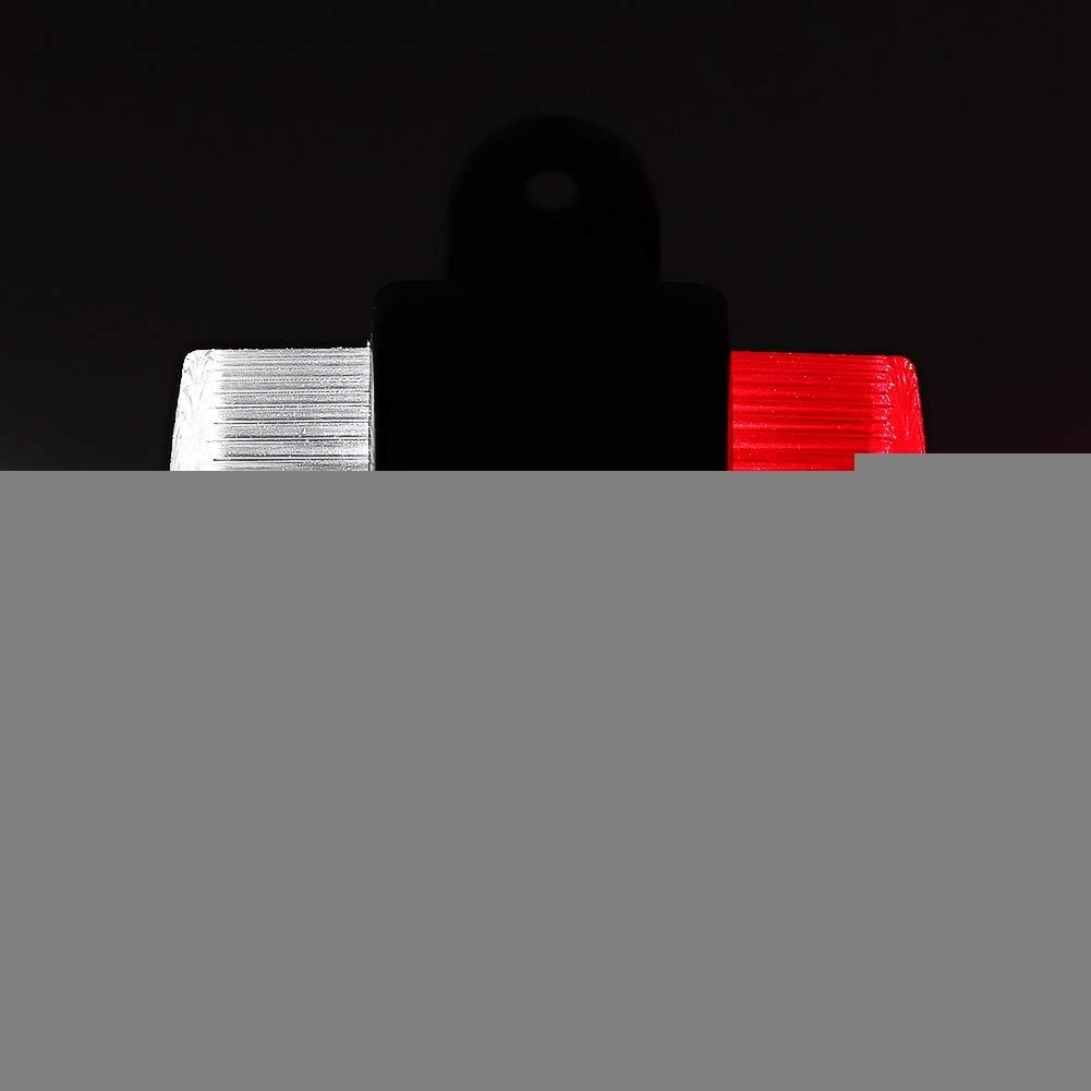 Akozon Luz trasera 2 piezas 8 LED Luz de cami/ón Luz indicadora lateral Advertencia marcada para remolque 10-30V