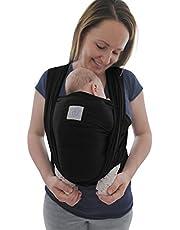 Babydraagdoek met voorvak incl. baby wrap draagtas en handleiding - lange elastische draagdoek voor jonge en pasgeborenen peuters