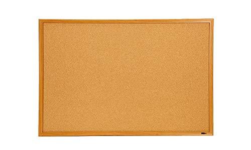 INNOVART Bulletin Board, Cork Board, 3 ' x 2',36 x 24, Oak Wood Finish -