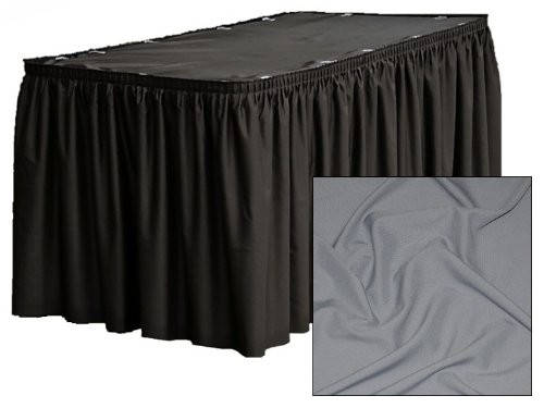 14 ft. Shirred Pleat Executive Table Skirt - Silver ()