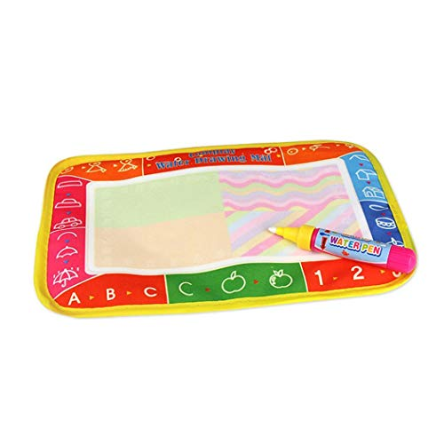 Kids Baby Unisex Reusable Magic Water Aquadoodle Mat Painting Writing Pad Board Educational Learning Toy ()