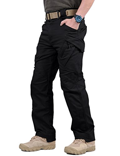 TACVASEN Mens Military Ripstop Cargo Operator Tactical Pants with Elastic Waistband ()