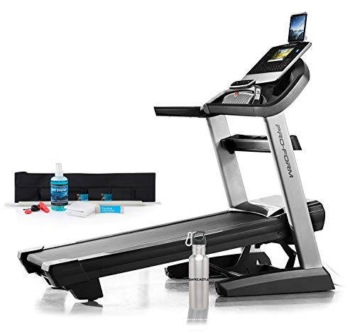 ProForm PRO-9000 Treadmill Powerful Heart Rate Monitor Easy Folding Treadmills for Running at Home Bundled with Repair Kit and Safecastle Water Bottle