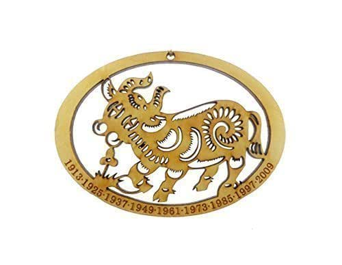 chinese zodiac ox ornament year of the ox ornament handmade. Black Bedroom Furniture Sets. Home Design Ideas