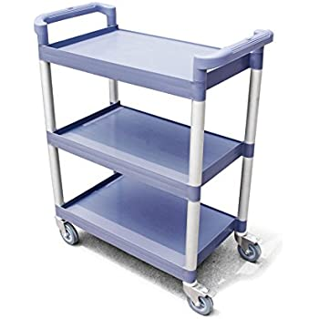 "New Star 1 pc Heavy Duty Utility Cart Bus Cart 350 lbs Load 3 Tier Cart 42-1/2x19-1/2x38-1/2"" Grey"