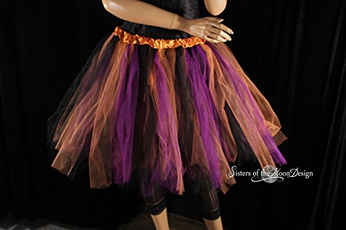 Ren Faire Costumes Plus Size (Handmade tulle tutu skirt streamer style knee length in purple copper black)