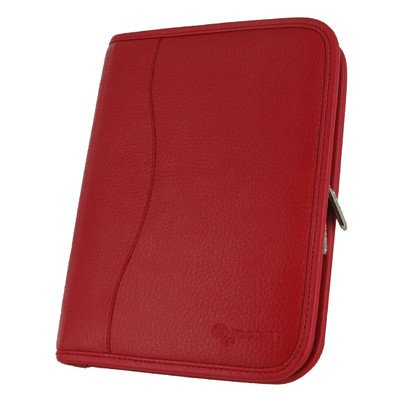 Executive Portfolio Leather Case Cover for Kindle Fire HD 7 Color: Red