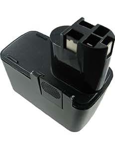 Batería tipo BOSCH 2607335244, Capacidad alta, 12.0V, 3000mAh, Ni-MH