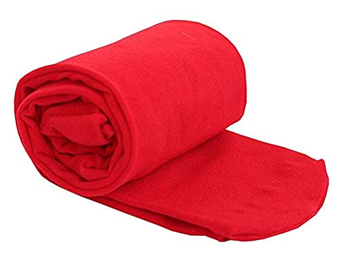 ALsmiley Toddler to Big Girls' Soft Microfiber School Dance Leotard Stockings Ballet Opaque Footed Tights Red 10-14y ()