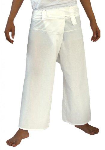 Siam secretos pescador Pantalones Unisex luz peso Wrap Yoga Pants talla única Blanco