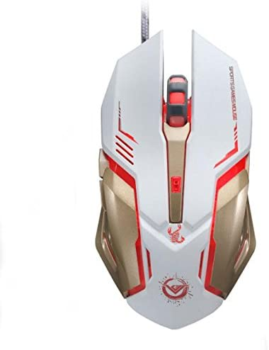 3500 DPI 6 Buttons Optical Custom Macros USB Wired Gaming Mouse Steel PC Mice US