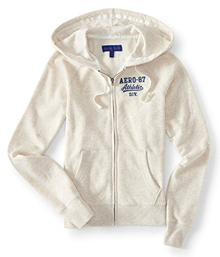 Aeropostale Women's Full Zip Up Aero Hoodie (XX-Large, Cream) (Hoodie Womens Cream)