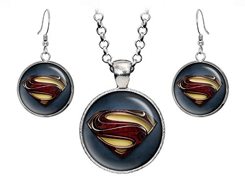 DC+Comics Products : Superman Necklace, Justice League Pendant, Man of Steel Earrings, Suicide Squad The Dark Knight Pendant, DC Comics Jewelry, Wedding Party, Geek Gift Geeky Gifts Nerd Nerdy Presents