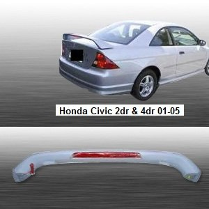 Spoiler Wing OE Style W/ LED for Honda Civic 01 02 03 04 05 2dr ()