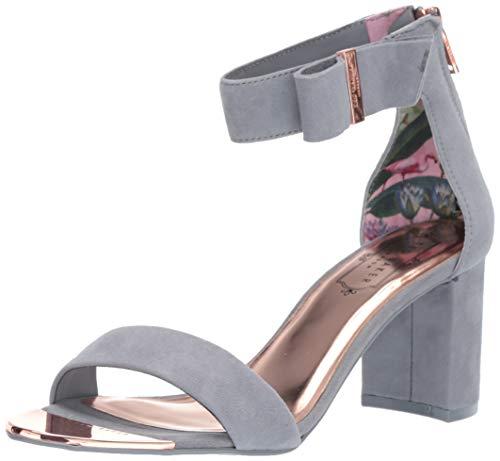 (Ted Baker Women's KATRYNE Heeled Sandal, Slate Grey Suede, 7 M US)