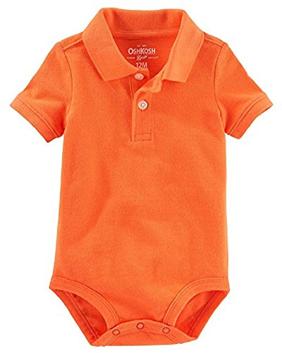 - OshKosh B'Gosh Baby Boys' Piqué Polo Bodysuit 6M--24M (24M, Orange)