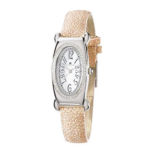 Diamond Pink Stingray - Ladies Pink Stingray 0.68ct. Diamond 21x38mm Watch by Charles Hubert Paris Watches, Free Gift Box
