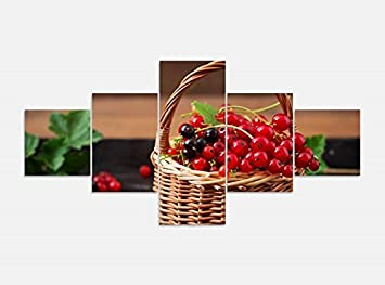 Amazon De Leinwandbild 5 Tlg 200cmx100cm Johanisbeere Beeren Rot