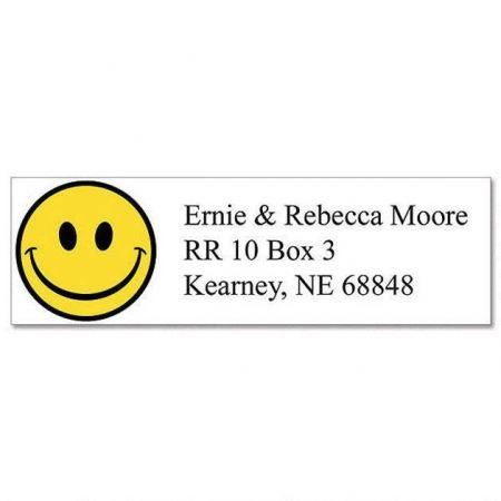 Happy Faces Small Return Address Labels (6 Designs) - Set of 240 2